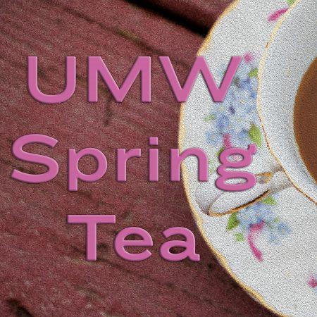 UMW spring tea