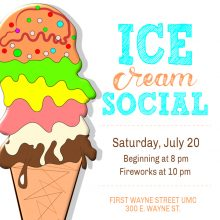 3 rivers festival ice cream social